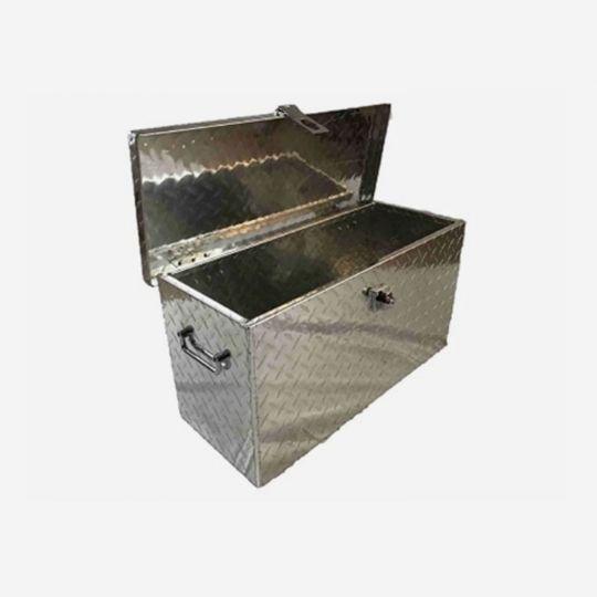 Direct Attach Aluminum Diamond Plate MED Tool Box,