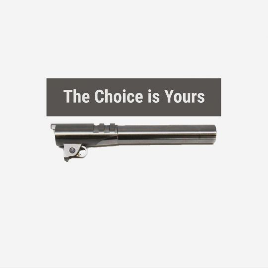 1911 Government Barrel - Selectable Caliber-Ramp Style-Length